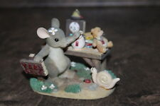 """Charming Tails Fitz & Floyd Mouse Figurine 83/810 """"Friendship Is A Bargain"""""""