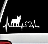 K1028 French Bulldog Heartbeat© Lifeline Monitor Decal Sticker Truck