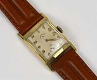Vintage Lord Elgin Men's 14K Gold Filled Curvex 21J Wind Up Watch RUNS GREAT!!