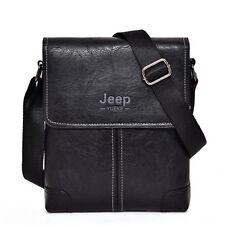 Men's PU Leather Messenger Bags Crossbody Casual Shoulder Bag Briefcase Bookbag