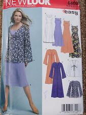 New Look PATTERN #6403.  Dresses, Tops, assorted sleeves  Sizes 10-22 NEW