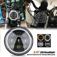 """5.75"""" LED Projecteur Phare Hi-Lo Faisceau Clignotant DRL pour Harley Davidson"""