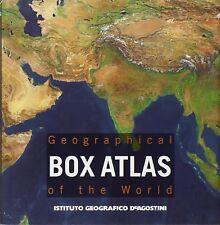 "Geographical box atlas of the world "" Atlante Tascabile "" De Agostini"