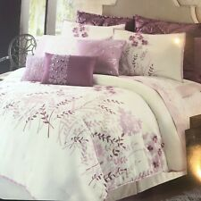 Daisy Fuentes Floral Garden Comforter Set Cal King 4 PC Raspberry Purple New