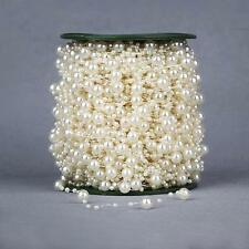 75M Beige Pearls String Beads Garland Christmas Wedding Party Craft Decor