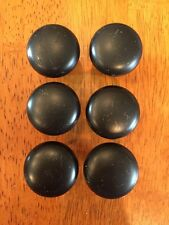 "6 Black Brass 1.25"" Drawer Pulls Knobs Handles Hardware Cabinet Dresser Kitchen"