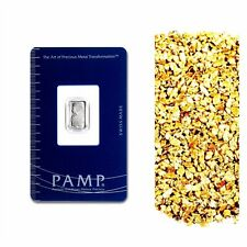 1 G PAMP SUISSE .9995 PLATINUM LADY FORTUNA BAR +10 PIECE ALASKAN PURE GOLD NUGS