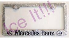 Mercedes Benz W Logos Steel license plate frame W Swarovski Crystals