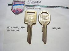 Key Blanks - Chevorlet Pontiac Oldsmobile Buick Cadillac 1972,1976,1980,1987-90