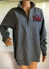 New Era Mens Miami Heat Basketball Pullover Sweatshirt Large Gray 1/4 Zip NBA