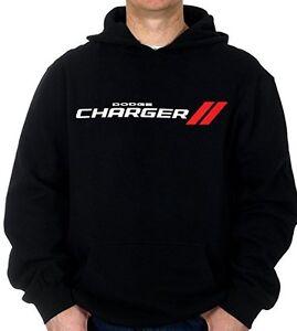 Men's Dodge Charger Pullover Hoodie Sweatshirt Black CHG9S3GEN3BLK