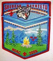 SHUNKAH MAHNEETU OA 407 GRAND TETON 544 WOLF NOAC 2006 FLAP 2-PATCH RMY DELEGATE