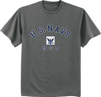 NAVY BLOCK T-SHIRT GOLD Military Shirt Blend Seal US U.S.NAVY USNAVY USA Tshirt