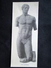 Statua di atleta Incisione del 1894