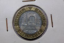 10 franchi Genio la bastiglia 1991 moneta francese ACA917