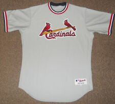 St. Louis Cardinals Team Issued Grey Throwback Authentic Jersey sz 48 Majestic