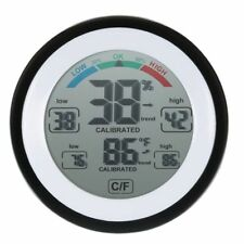 Numerique LCD Affichage Thermometre Interieur Hygrometre Rond Sans Fil elec O7G1
