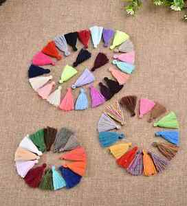100pcs Small Cotton Thread Tassel Charm Pendant Tassels Jewelry 30mm