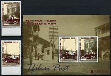 Georgien Georgia 2013 CEPT Postfahrzeuge Auto Pferdekutsche 657-658 Block 61 MNH