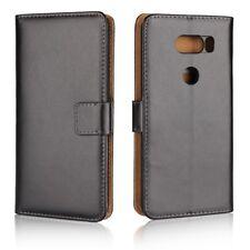 LG V30 Wallet Case Genuine Split echt Leder Book Klapp Etui Schutz hülle Cover