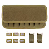 Coyote Tan Molle 9MM .45 ACP .40 S&W 8 Mag Pouch with Pistol Magazine Holster