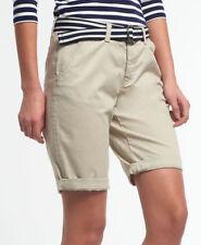 Pantalones cortos de mujer de color principal beige de poliéster