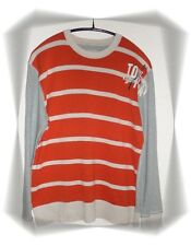 A- Nice Sweater T-shirt Fancy Grey Orange Beige Esprit Size 3XL - XXXL