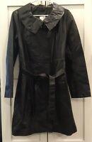 "Tahari ""Bethany Colt Brown"" 100% Lamb Leather Zip-Up Jacket, Size L NWT! $678"
