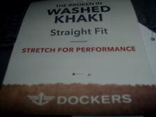 Men's New Tan 38 x 30 Dockers Straight Fit Broken In Soft Stretch Khaki Pants