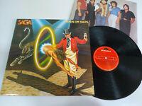 "Saga Heads Or Tales 1983 Polydor Spain Edition - LP Vinyl 12 "" VG/VG"
