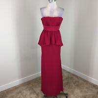 $378 BCBGMAXAZRIA XS 0 Red Ruella Strapless Layered Dress Formal Gown Strapless