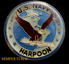 HARPOON AGM ANTI-SHIP MISSILE HAT LAPEL PIN IRAQ VIETNAM US NAVY WOW