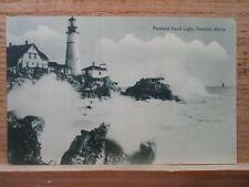Portland Me Maine, Portland Head Light ,early postcard