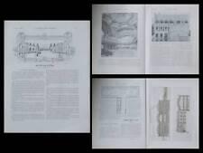 LA CONSTRUCTION MODERNE - n°10 - 1907- LYON, TONY GARNIER, PAUL GENUYS, GARAGE