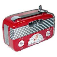 Retro Vintage 40's AM/FM Radio Vintage Red