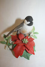 1997 Lenox Christmas Chickadee Garden Birds Porcelain Figurine Sculpture Mint Le