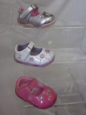 Púrpura De Niñas / Rosa Plata Cutie Zapatos Tallas RU 2-7 h2213
