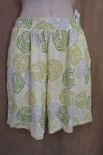 Alfani Intimates Pajama Shorts Sz S White Multi-Green Sleepwear Pajama Shorts