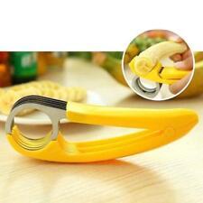Banana Slicer Stainless Chopper Fruit Salad Stem Cucumber Cutter Kitchen Tool WT
