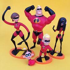 Set of 5 Original Disney / Pixar The Incredibles Action Figures – 2004