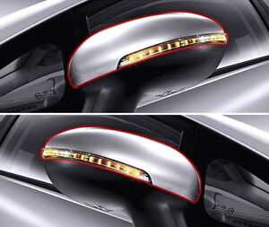 Genuine Side Mirror Cover UD White + LED Signal Lamp LH RH 4p For 12-16 Kia Rio