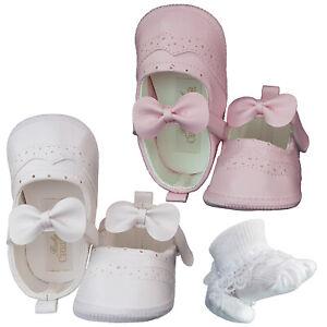 Taufschuhe Babyschuhe/Ballerinas Festliche Babyschuhe für Mädchen Größe 17,19,20