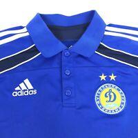 Adidas FC Dynamo Kyiv Blue Climalite Athletic Football Golf Polo Shirt Mens L 42