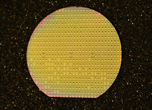 """Historic 1.5"""" silicon wafer - Vintage 1960s DTL FCH211 by Mullard of the UK"""