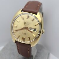 Vintage ARTEL by Belair watch corp Men's Automatic 25Jewels AS 1916 DAY/DATE 70s