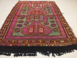 Antique Turkish Moroccan Kilim Rug shabby vintage wool Kelim 171x122cm medium