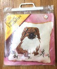 Vintage Columbia Minerva Designer Needlepoint Pekingese Small Dog Pillow Kit