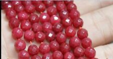 """Natural 6mm Faceted Ruby Round beads Gemstone Loose Beads 15"""" Strand JL120"""