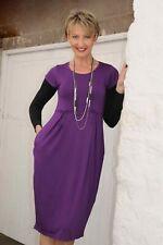 New MASAI CLOTHING CO Purple Short Sleeved Lagenlook Tunic Dress PLUS Size XL