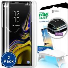 Dome Glass Galaxy Note 9 Screen Protector Tempered Glass Full 3D Curved 2 PACK